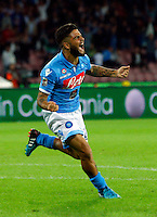 in action during the Italian serie A   soccer match between SSC Napoli and Torino FC   at  the San Paolo   stadium in Naples  Italy , Octoberr 05 , 2014