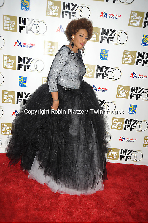"Macy Gray in Derek Lee black tulle dress attends the Film Society of Lincoln Center Gala Tribute to Nicole Kidman and the US Premiere of ""The Paperboy"" at the 2012 New York Film Festival  on October 3, 2012 at Alice Tully Hall in New York City. The movie stars Nicole Kidman, Macy Gray, David Oyelowo and Naella Gordon and was directed by Lee Daniels."