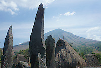 monoliths in village Bena, Ngada people, Flores, Indonesia. Spiritual power of the monoliths are connected with the ancestors.