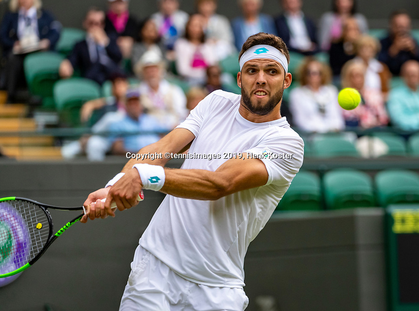 London, England, 1  st July, 2019, Tennis,  Wimbledon, Jiri Vessely (CZE)<br /> Photo: Henk Koster/tennisimages.com
