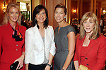 From left: Deana Anderson, Anne O'Conor, Susan Lawrence and Nancy Lane at a luncheon benefitting ArtBridge at the Houston Country Club  Thursday April 22,2010.. (Dave Rossman Photo)