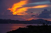 Sunset from Cruz Bay overlook<br /> St. John<br /> U.S. Virgin Islands