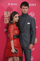 "14 June 2017 - Los Angeles, California - Violetta Komyshan, Ansel Elgort. Los Angeles Premiere of ""Baby Driver"" held at the Ace Hotel Downtown in Los Angeles. Photo Credit: Birdie Thompson/AdMedia"
