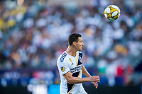 CARSON, CA - SEPTEMBER 29: Daniel Steres #5 of the Los Angeles Galaxy heads a ball during a game between Vancouver Whitecaps and Los Angeles Galaxy at Dignity Health Sports Park on September 29, 2019 in Carson, California.