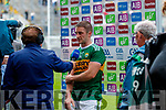 Stephen O'Brien, Kerry is presented with the man of the match after the All Ireland Senior Football Semi Final between Kerry and Tyrone at Croke Park, Dublin on Sunday.