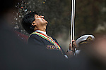 &copy;PATRICIO CROOKER<br /> La Paz Bolivia<br /> A picture dated March 23, 2015 shows Bolivian President Evo Morales attending the ceremony to commemorate the loss of the access to the sea because of the conflict with Chile, the Pacific War in 1879.Every March 23, there are military parades in honor of the hero of the Pacific War Eduardo Avaroa.