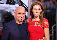 HOLLYWOOD, LOS ANGELES, CA, USA - AUGUST 13: Sir Ben Kingsley, Daniela Lavender at the World Premiere Of Relativity Media's 'The November Man' held at the TCL Chinese Theatre on August 13, 2014 in Hollywood, Los Angeles, California, United States. (Photo by Xavier Collin/Celebrity Monitor)