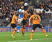 Blackburn Rovers' Bradley Johnson heads goal wards <br /> <br /> Photographer Dave Howarth/CameraSport<br /> <br /> The Premier League - Hull City v Blackburn Rovers - Tuesday August 20th 2019  - KCOM Stadium - Hull<br /> <br /> World Copyright © 2019 CameraSport. All rights reserved. 43 Linden Ave. Countesthorpe. Leicester. England. LE8 5PG - Tel: +44 (0) 116 277 4147 - admin@camerasport.com - www.camerasport.com