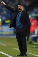 Gennaro Gattuso coach of Napoli gestures<br /> Napoli 14-01-2020 Stadio San Paolo <br /> Football Italy Cup 2019/2020 SSC Napoli - AC Perugia<br /> Photo Cesare Purini / Insidefoto