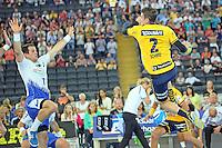 Andy Schmid (Löwen) gegen Matthias Flohr (HSV) - Tag des Handball, Rhein-Neckar Löwen vs. Hamburger SV, Commerzbank Arena