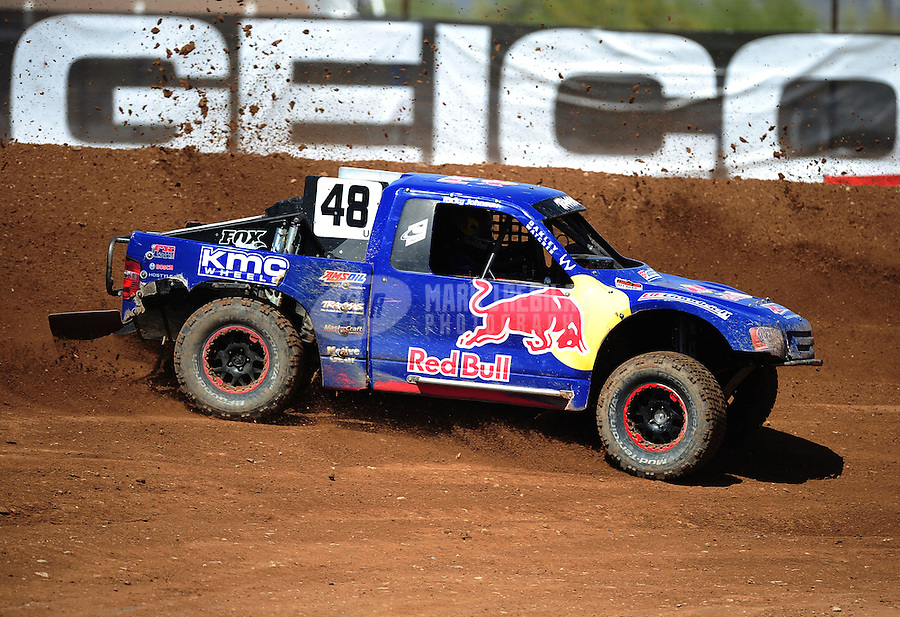 Apr 15, 2011; Surprise, AZ USA; LOORRS driver Ricky Johnson (48) during round 3 and 4 at Speedworld Off Road Park. Mandatory Credit: Mark J. Rebilas-.