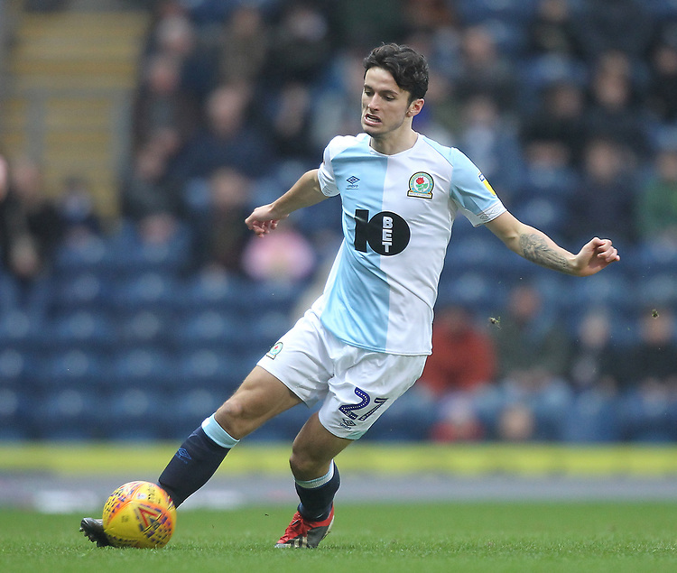 Blackburn Rovers Lewis Travis<br /> <br /> Photographer Mick Walker/CameraSport<br /> <br /> The EFL Sky Bet Championship - Blackburn Rovers v Ipswich Town - Saturday 19 January 2019 - Ewood Park - Blackburn<br /> <br /> World Copyright &copy; 2019 CameraSport. All rights reserved. 43 Linden Ave. Countesthorpe. Leicester. England. LE8 5PG - Tel: +44 (0) 116 277 4147 - admin@camerasport.com - www.camerasport.com