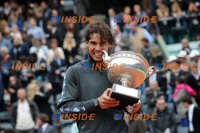 Rafael Nadal vincitore del Torneo.Parigi 11/6/2012 Roland Garros.Tennis Grande Slam Finale .Foto Insidefoto / N. Le Gouic / FEP / Panoramic .ITALY ONLY