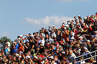 May 16, 2014; Commerce, GA, USA; NHRA fans in the grandstands during qualifying for the Southern Nationals at Atlanta Dragway. Mandatory Credit: Mark J. Rebilas-USA TODAY Sports