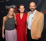 "Shorey Walker with her sister Sarah and husband Thomas Macmillan attends the Opening Night After Party for the Ensemble for the Romantic Century production of ""Tchaikovsky: None But the Lonely Heart"" Off-Broadway Opening Night  at West Bank Cafe on May 31, 2018 in New York City."