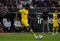 Jan-Axel Zagadou (Borussia Dortmund) - 22.09.2019: Eintracht Frankfurt vs. Borussia Dortmund, Commerzbank Arena, 5. Spieltag<br /> DISCLAIMER: DFL regulations prohibit any use of photographs as image sequences and/or quasi-video.