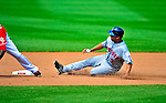 7 June 2009: New York Mets' second baseman Alex Cora slides safely into second during a game against the Washington Nationals at Nationals Park in Washington, DC. The Mets shut out the Nationals 7-0 to take the third game of the weekend series. Mandatory Credit: Ed Wolfstein Photo