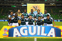 PALMIRA - COLOMBIA, 03-02-2018:Formación del Deportivo Cali antes de sue encuentro contra el Envigado FC ,partido entre el Deportivo Cali  y Envigado por la fecha 1 de la Liga Águila II 2018 jugado en el estadio Deportivo Cali. / Team of Deportivo Cali agaisnt Envigado FC match between Deportivo Cali and Envigado for the date 1 of the Aguila League I 2018 played at Deportivo Cali stadium. Photo: VizzorImage/ Nelson Rios  / Contribuidor