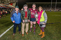 Tuesday 7th January 2020 | MMW Junior Cup Final<br /> <br /> Enniskillen captain Gareth Beatty after the Millar McCall Wylie Junior Cup Final between Armagh 2s and Enniskillen at Kingspan Stadium, Ravenhill Park, Belfast, Northern Ireland. Photo by John Dickson / DICKSONDIGITAL