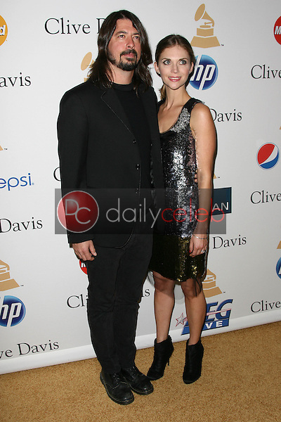 Dave Grohl and wife Jordyn Blum Grohl<br /> at the Clive Davis Pre-Grammy Awards Party, Beverly Hilton Hotel, Beverly Hills, CA. 02-12-11<br /> David Edwards/DailyCeleb.com 818-249-4998