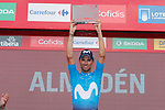 Green Jersey Alejandro Valverde (ESP) Movistar Team wins Stage 8 of the La Vuelta 2018, running 195.1km from Linares to Almaden, Spain. 1st September 2018.<br /> Picture: Unipublic/Photogomezsport | Cyclefile<br /> <br /> <br /> All photos usage must carry mandatory copyright credit (&copy; Cyclefile | Unipublic/Photogomezsport)