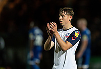 Bolton Wanderers' Callum King-Harmes applauds the travelling fans at the end of the match<br /> <br /> Photographer Andrew Kearns/CameraSport<br /> <br /> The Carabao Cup First Round - Rochdale v Bolton Wanderers - Tuesday 13th August 2019 - Spotland Stadium - Rochdale<br />  <br /> World Copyright © 2019 CameraSport. All rights reserved. 43 Linden Ave. Countesthorpe. Leicester. England. LE8 5PG - Tel: +44 (0) 116 277 4147 - admin@camerasport.com - www.camerasport.com