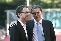 Il regista statunitense Ethan Coen (s) posa con il direttore della Festa del Cinema di Roma Antonio Monda (d) sul red carpet della 14^ Festa del Cinema di Roma all'Aufditorium Parco della Musica di Roma, 17 ottobre 2019.<br /> U.S director Ethan Coen (l) poses on the red carpet with Rome Film Fest Antonio Monda (r) during the 14^ Rome Film Fest at Rome's Auditorium, on 17 october 2019.<br /> UPDATE IMAGES PRESS/Isabella Bonotto