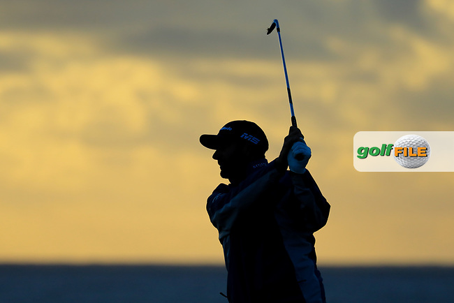 Dustin Johnson (USA) during the final round of the AT&amp;T Pro-Am ,Pebble Beach Golf Links, Monterey, USA. 10/02/2019<br /> Picture: Golffile | Phil Inglis<br /> <br /> <br /> All photo usage must carry mandatory copyright credit (&copy; Golffile | Phil Inglis)