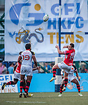 BGC Dragons vs Carinat Dragons during day 2 of the 2014 GFI HKFC Tens at the Hong Kong Football Club on 27 March 2014. Photo by Juan Flor / Power Sport Images