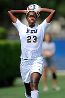 26 September 2010:  FIU's Kelsey Rene (23) returns the ball to play in the second half as the FIU Golden Panthers defeated the Arkansas State Red Wolves, 1-0 in double overtime, at University Park Stadium in Miami, Florida.