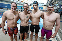 Coast 200IM relay team. New Zealand Short Course Swimming Championships, National Aquatic Centre, Auckland, New Zealand, Thursday 3rd October 2019. Photo: Simon Watts/www.bwmedia.co.nz/SwimmingNZ