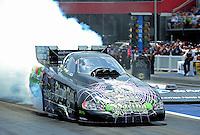 Jun. 16, 2012; Bristol, TN, USA: NHRA funny car driver Bob Bode during qualifying for the Thunder Valley Nationals at Bristol Dragway. Mandatory Credit: Mark J. Rebilas-