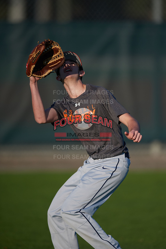 Andrew McCarty (63), from Meriden, Connecticut, while playing for the Giants during the Baseball Factory Pirate City Christmas Camp & Tournament on December 30, 2017 at Pirate City in Bradenton, Florida.  (Mike Janes/Four Seam Images)