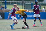 Aston Villa (in purple) vs Singapore Cricket Club (in yellow) during their Main Tournament match, part of the HKFC Citi Soccer Sevens 2017 on 27 May 2017 at the Hong Kong Football Club, Hong Kong, China. Photo by Marcio Rodrigo Machado / Power Sport Images
