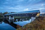 The Windsor-Cornish covered bridge in Windsor, Vermont, USA