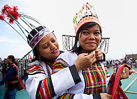 Mizoram a state in North East India is home to several tribes each having a unique cultural identity. This portrait showcases the people and costumes of the Lushai tribe.