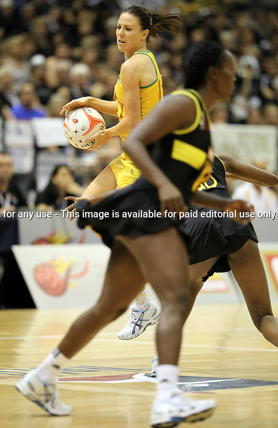09.07.2011 Australia's Natalie Von Bertouch in action during the netball match between Jamaica and Australia at the Mission Foods World Netball Championship 2011 held at the Singapore Indoor Stadium in Singapore . Mandatory Photo Credit ©Michael Bradley.