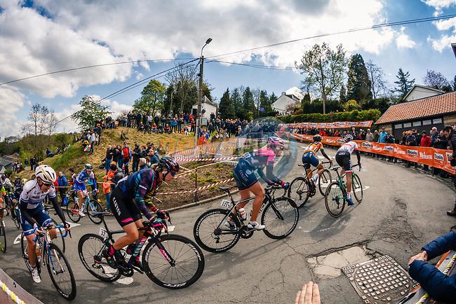 Climbing the Mur de Huy during the 2017 La Fleche Wallonne (UCI WorldTour), Huy, 19 April 2017, Photo by Thomas van Bracht / PelotonPhotos.com