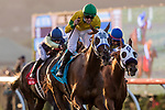 DEL MAR, CA - SEPTEMBER 01: Vasilika with Falvien Prat up wins the John C Mabee Stakes at Del Mar on September 1, 2018 in Del Mar, California.(Photo by Alex Evers/Eclipse Sportswire)