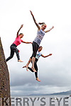 Lets Dive<br /> -------------<br /> These girls found the easy way to wash off all the colour flung at them during the Cloghane/Brandon youth club fundraiser was to leap off the high part of Brandon pier, there were L-R Annie O'Neill, Aoife O'Connell and Lin Moriarty.