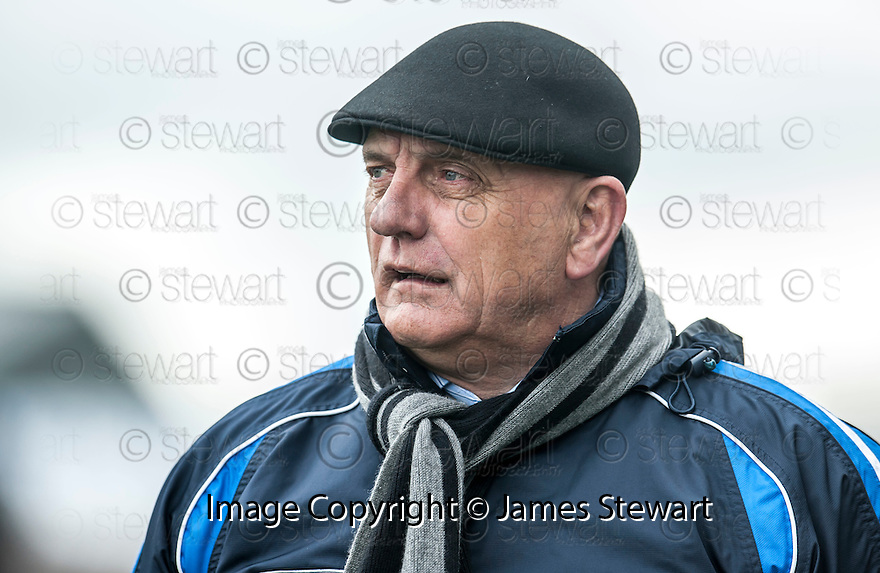Forfar manager Dick Campbell in the final moments of the game.