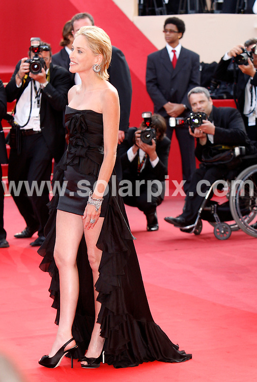 **ALL ROUND PICTURES FROM SOLARPIX.COM**.**SYNDICATION RIGHTS FOR UK AND SPAIN ONLY**.Arrivals at the premiere of Inglourious Basterds at the 62nd Cannes Film Festival in Cannes, France. .This pic:   Sharon Stone.JOB REF:      9067    CPR/Heinz        DATE:  21.05.09.**MUST CREDIT SOLARPIX.COM OR DOUBLE FEE WILL BE CHARGED**.**ONLINE USAGE FEE GBP 50.00 PER PICTURE - NOTIFICATION OF USAGE TO PHOTO @ SOLARPIX.COM**.**CALL SOLARPIX : +34 952 811 768 or LOW RATE FROM UK 0844 617 7637**