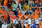 The Hague, Netherlands, June 14: Dutch fans during halftime during the field hockey gold medal match (Women) between Australia and The Netherlands on June 14, 2014 during the World Cup 2014 at Kyocera Stadium in The Hague, Netherlands. Final score 2-0 (2-0)  (Photo by Dirk Markgraf / www.265-images.com) *** Local caption ***