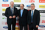 Vicente del Bosque, Santillana and Pirri pose during AS Sport Female Awards ceremony in Madrid, Spain. December 15, 2014. (ALTERPHOTOS/Victor Blanco)