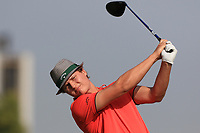 Tapio Pulkkanen (FIN) on the 3rd tee during Round 4 of the Omega Dubai Desert Classic, Emirates Golf Club, Dubai,  United Arab Emirates. 27/01/2019<br /> Picture: Golffile | Thos Caffrey<br /> <br /> <br /> All photo usage must carry mandatory copyright credit (&copy; Golffile | Thos Caffrey)