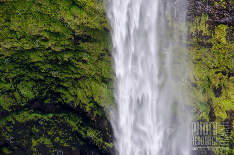 A close-up of beautiful 'Akaka Falls on the Big Island of Hawai'i; the falls plummet 442 feet.