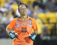 Jillian Loyden #85 of Abby's XI enters the match during the WPS All-Star game against Marta's XI at the KSU Stadium in Kennesaw, Georgia on June 30 2010. Marta XI won 5-2.