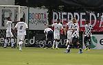 BOGOTÁ – COLOMBIA _ 18-02-2014 / En compromiso correspondiente a la sexta jornada del Torneo Apertura Colombiano 2014, Equidad venció 1 – 0 a Chicó en juego que se llevó a cabo en el estadio metropolitano de Techo de Bogotá. / Henry Hernández celebra el único tanto del compromiso.