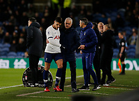 7th March 2020; Turf Moor, Burnley, Lanchashire, England; English Premier League Football, Burnley versus Tottenham Hotspur; Erik Lamela of Tottenham Hotspur is consoled by Tottenham Hotspur manager Jose Mourinho after being substituted in the second half