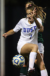10 November 2012: Duke's Katie Trees. The Duke University Blue Devils played the Loyola University Maryland Greyhounds at Koskinen Stadium in Durham, North Carolina in a 2012 NCAA Division I Women's Soccer Tournament First Round game. Duke won the game 6-0.